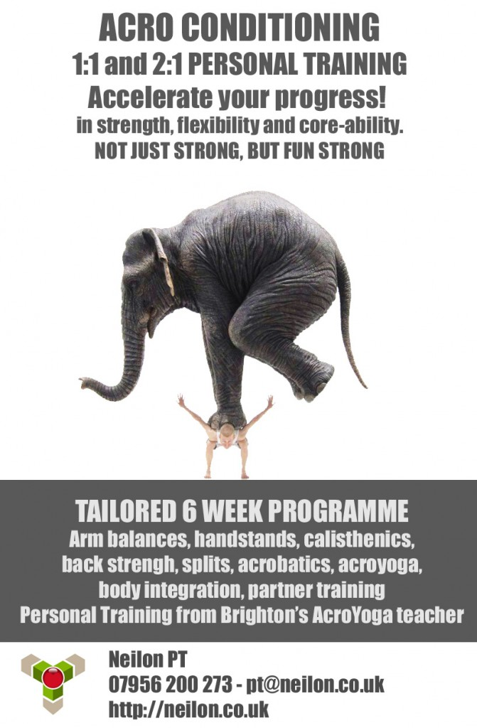 Tailored 6 week conditioning programme to get you Acro Fit. Not just strong, but fun strong